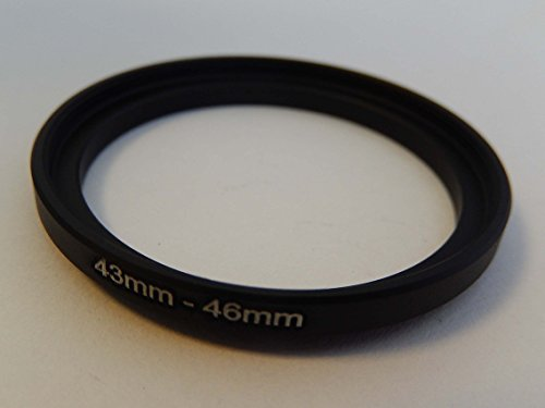 vhbw Step UP Filter-Adapter 43mm-46mm schwarz für Kamera Panasonic, Pentax, Ricoh, Samsung, Sigma, Sony, Tamron