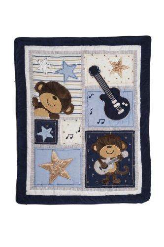 Carter'S Quilt, Monkey Rockstar front-173974