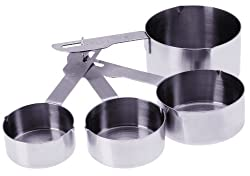 Progressive International Heavy Duty 4 Piece Stainless Steel Measuring Cup