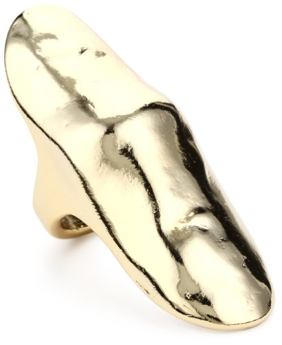 Belle Noel Molten Gold Armor Finger Ring, Size 8