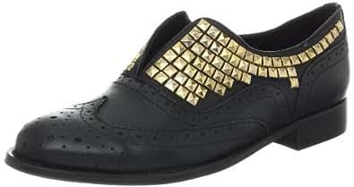 Steve Madden Women's Mercurie Oxford,Black Leather,5.5 M US