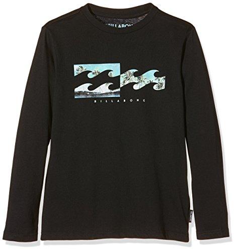Inversa Billabong-Maglietta a maniche lunghe da ragazzo, colore: nero, taglia: 12 anni (taglia del produttore: 12)