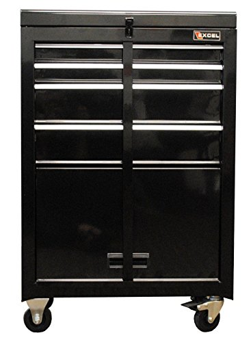 Excel 4 Drawer Rolling Mechanics Tool Cabinet Chest Box Garage Storage Toolbox (Chest Of Drawers 22 Inches Wide compare prices)