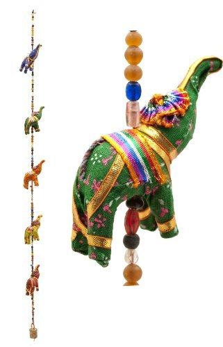 Indian Traditional Five Elephant Hanging Layer Door Hanging , Wall Hanging , Decorative Hanging