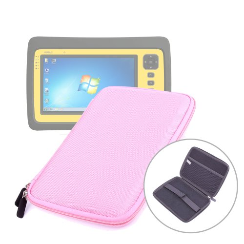 """DURAGADGET Hardwearing Stylish Pink Protective Hard Clam Shell Zip Cover With Soft Felt Lining & Netted Interior Pocket For Polaroid Diamond 9"""" MIDC 409 PR002 AND Trimble Yuma 2 (Windows 7 OS, 1.6Ghz Intel Atom Dual-Core Processor) Outdoor Rugged Tablet P"""