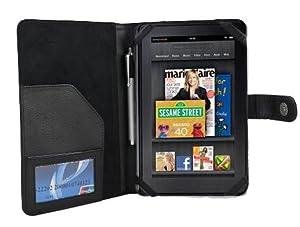 Kiwi Cases Amazon Kindle Fire Tablet Black Leather Executive Folio Case - SRX Series