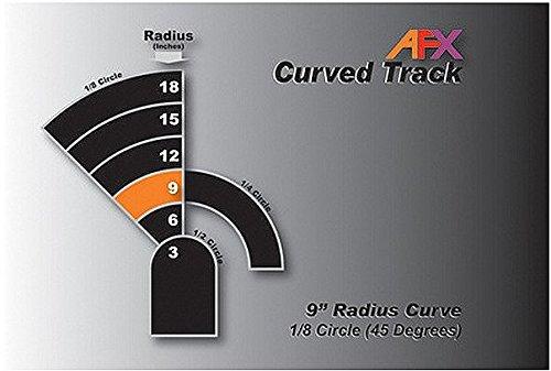 "AFX Track, Curve 9"" 1/8 Pair AFX70603"