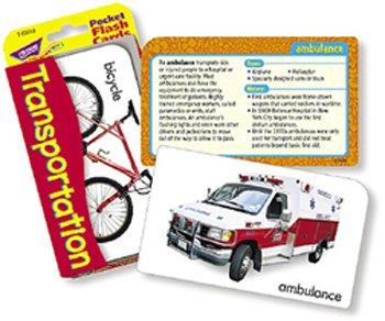 Transportation Pocket Flash Cards