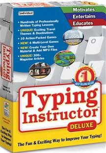 Popular Individual Software Inc Typing Instructor Deluxe 17 Exclusive Multi-Level Game Play Sm Box