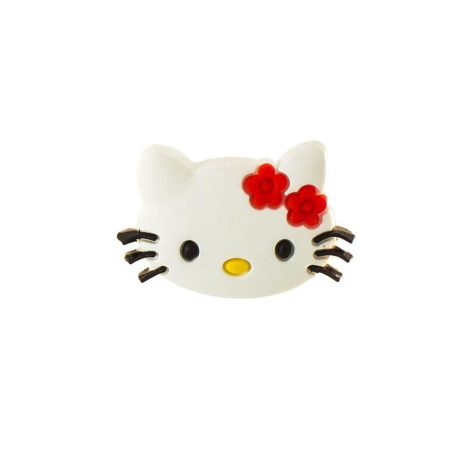 DIY Jewelry Making Hello Kitty Face Croc Charm Jibbitz Style   Red