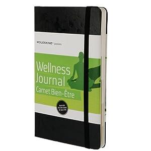 Moleskine PHWL3A Passion-Journal Wellness Large, Hardcover mit Prägung schwarz