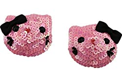 SoarDream Nipple Covers Breast, Breast Petals, Pink Black, Size(2.75x2.36inches) .