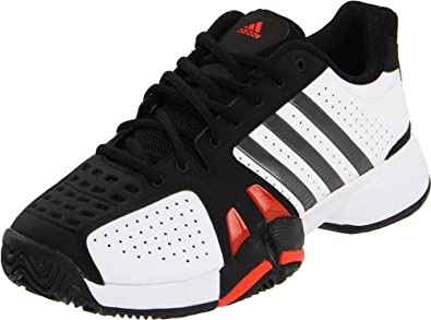 adidas Men's Barricade Team 2 Tennis Shoe,Running White/Iron/Black,14.5 D US
