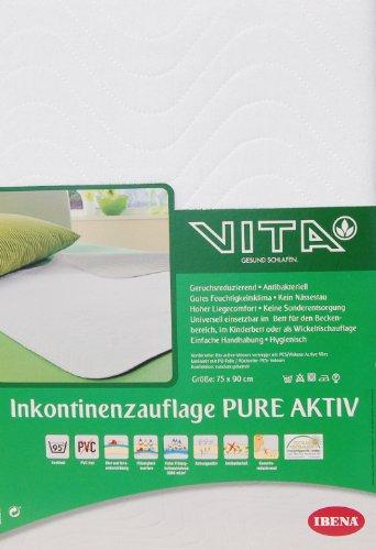 Ibena-5502-Inkontinenz-Matratzenauflage-Pure-Aktiv-75x90-cm-PESPA-Microfaser-Blut-und-Urinundurchlssig-geruchsreduzierend-ca425m2