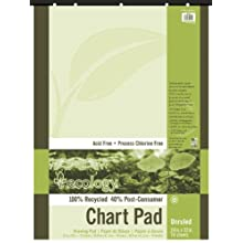 Pacon 945510 S.a.v.e recycled unruled chart pad, 5-hole punched, 24 x 32, 70 sheets/pad