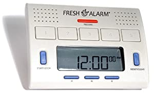 FreshAlarm- 5 Alarm Voice Timer. Five Interval Timers each with Recordable Loud Voice Alarm. Easy to set timers. Interval up to 12 hours.