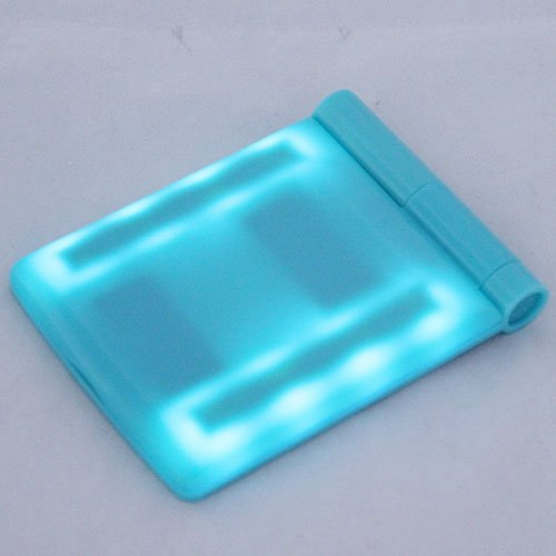 Hot Sale !!!!!! Girl Compact Hand Cosmetic Makeup Pocket Mirror With 8 Led Light (Blue)