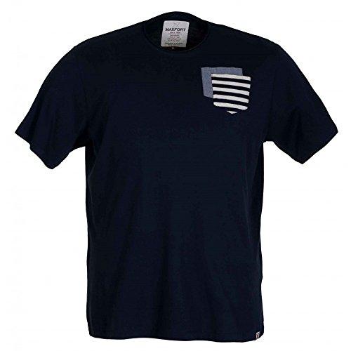 T-shirt Maxfort 23214 taglie forti - Blu scuro, 6XL
