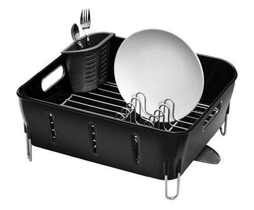 simplehuman-plastic-compact-dishrack-black