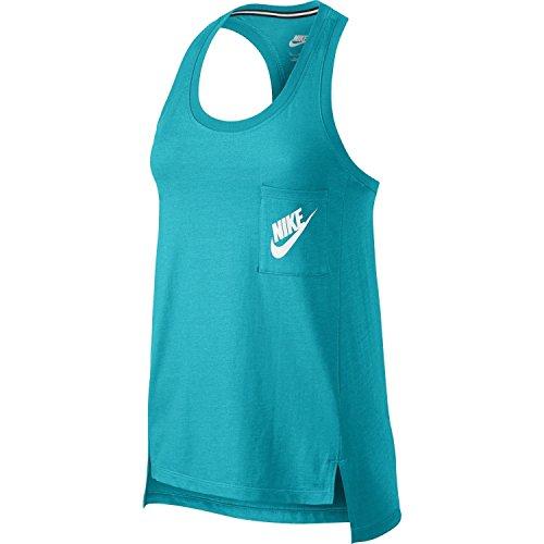 Nike Women's Signal Tank Top (Omega Blue, Small)
