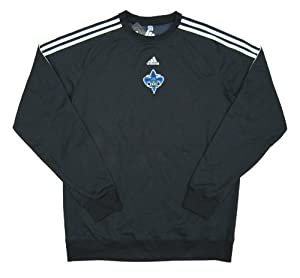 New Orleans Hornets Team Issued adidas Crew Sweatshirt Size 3XLT - Charcoal