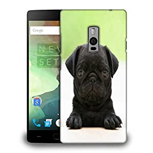 Snoogg Black Puppy Printed Protective Phone Back Case Cover Fpr OnePlus One / 1+1
