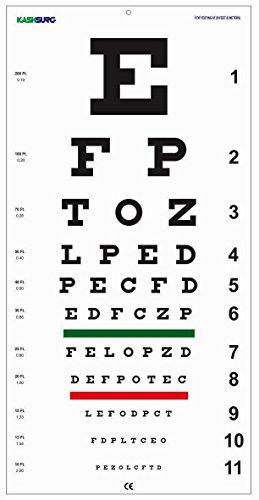 Snellen Distance Vision Eye Chart 20Feet