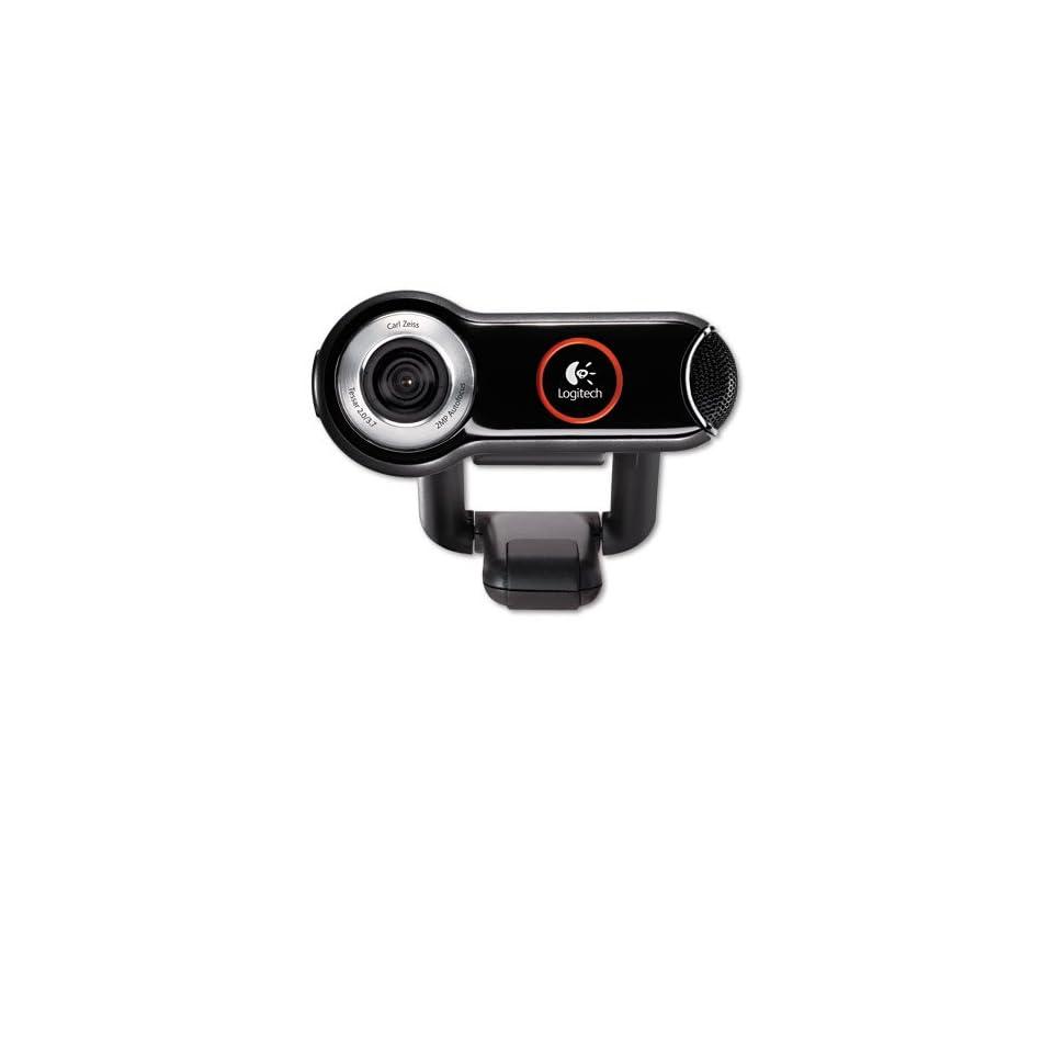 31fd6b3cf3d Logitech QuickCam Pro 9000 Webcam Carl Zeiss Optics w/Autofocus 8 Megapixel  Black HD Quality