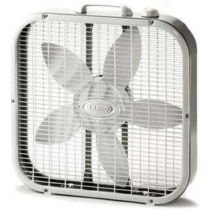 Lasko Products, 20 Box Fan 3-Speed (Catalog Category: Indoor/Outdoor Living / Fans & Air Conditioners)