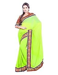 Designer Saree Elite Border Worked Faux Georgette Saree By Triveni
