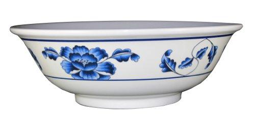 Extra Large 96 Ounce Oriental Style Pho Noodle Soup Bowl - Restaurant Quality - Made Of Durable Melamine - Lotus Design - Pho Size: Extra Large - Dishwasher Safe