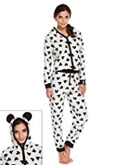 Mickey & Minnie Mouse Fleece Onesie