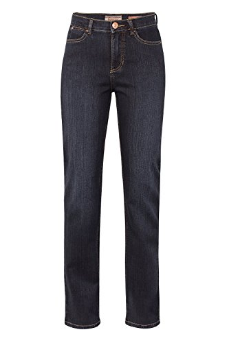 Damen 5 Pocket Jeans der Marke Paddock's, Stil: Slim Fit, Kate (60 399 1380 000), Größe:W38/L32;Farbe:blue black dark used(5703)