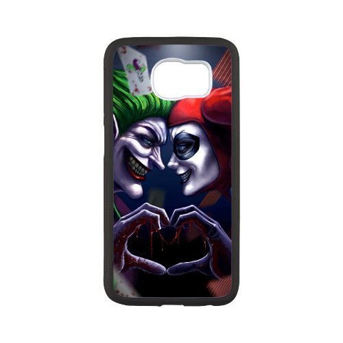 LeonardCustom S6 Rubber Phone Case - Protective Silicone Cover for Samsung Galaxy S6, Batman Joker and Harley Quinn -LCS6U865 at Gotham City Store