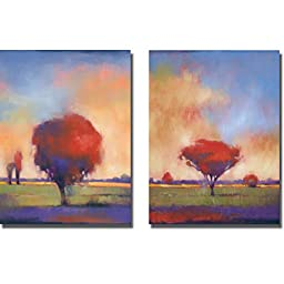 Stranger in Town & Where Ever You Go by Paul Anderson 2-pc Premium Gallery-Wrapped Canvas Giclee Art Set (Ready-to-Hang)