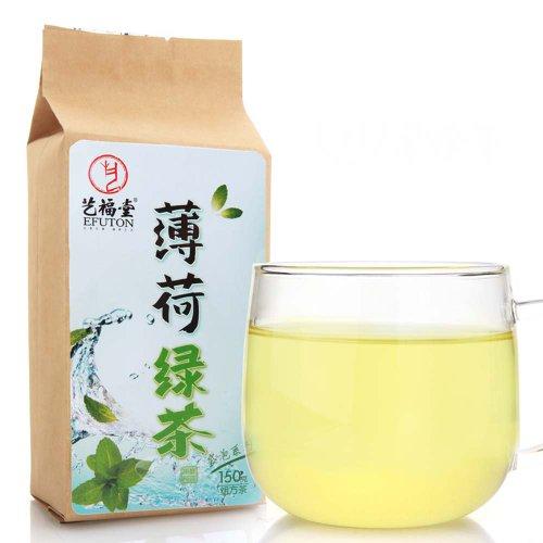 Peppermint Green Tea Bags 150G Efuton Chinese Natural Organic Flora Herbal Tea Convenient