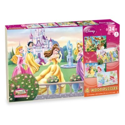 Disney Princess 4-pack Wooden Puzzles - 1