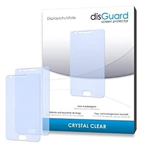 disGuard RY033044 kristallklar hartbeschichtet Displayschutzfolie für Samsung I9100 Galaxy S2/I-9100 S-2 (2-er Pack)