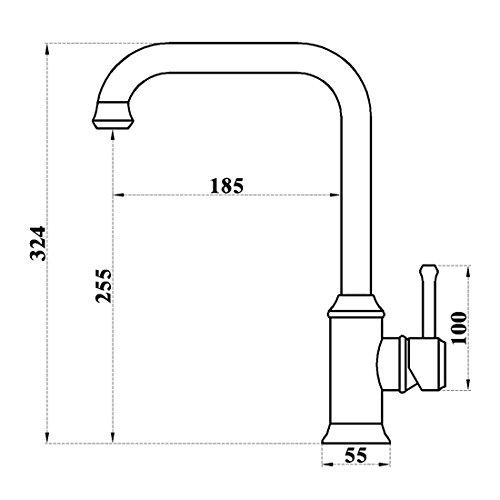 Vintage Deck Mount Single Hanle Control Single Hole Mixer Taps Swivel Lavatory Basin Taps Basic Style Antique Brass Tall Spout Vessel Bathroom Faucet 4