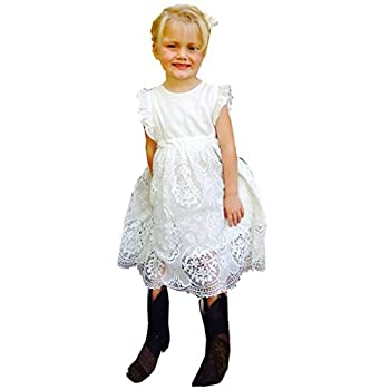 Bow Dream Flower Girl's Dress Vintage Lace