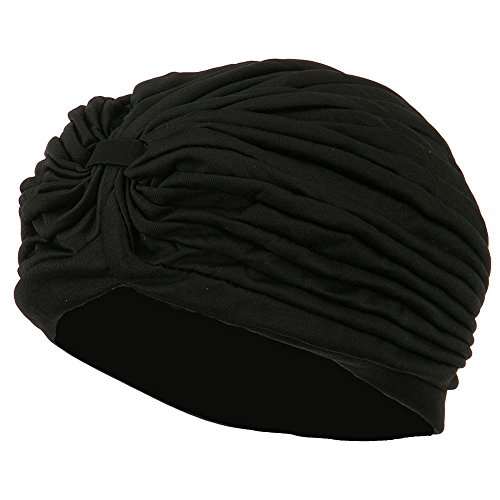 Jacobson Hat Co. Women's TURBAN Gypsy Head Dress Spandex Hat BLACK