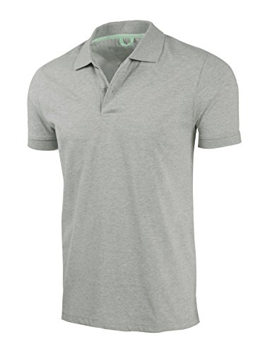Marq 75 Slim Fit Jersey Polo Shirt - Heather Grey, Large