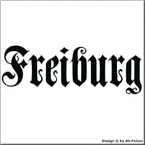 cartattoo4you AK-01584 | FREIBURG - Fraktur / Altdeutsche Schrift | Autoaufkleber Aufkleber FARBE schwarz , in 23 weiteren Farben erhältlich , glänzend 17 x 5 cm in PREMIUM - Qualität Waschstrassenfest VERSANDKOSTENFREI
