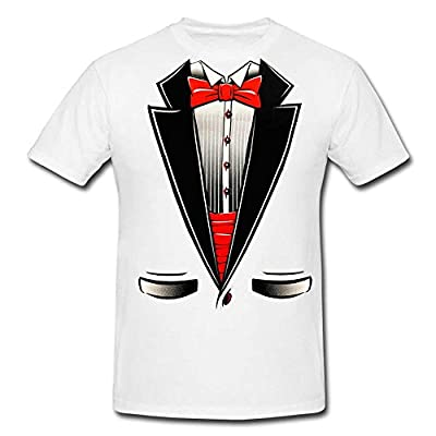 Fresh Tees® Brand- Tuxedo With Bowtie T-Shirt Funny Shirts
