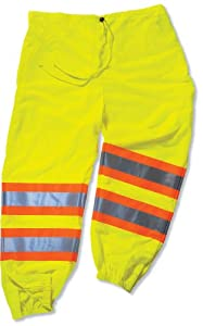 GLoWEAR 8911-IS Class-E Two-Tone Pant with Insect Shield, Lime, Large/X-Large