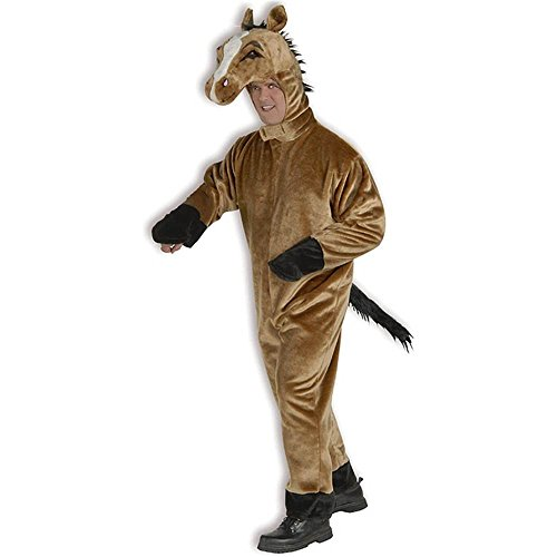 Adult Deluxe Plush Brown Horse Costume - Standard
