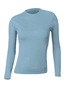 Gordini Women's Midweight 2-Layer Wool Long-Sleeve Crew, Skydive, X-Large