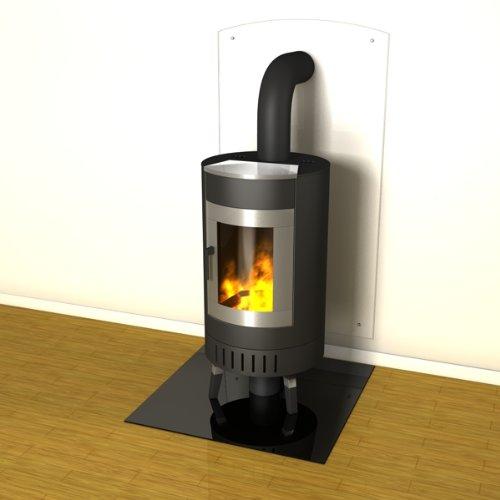 duraflamm kamin rundbogen funkenschutzplatte glasplatte g23 hier g nstig kaufen. Black Bedroom Furniture Sets. Home Design Ideas
