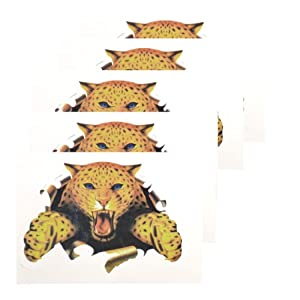 Auto Car Vehicle Decoration Tiger Style Decal Sticker 5 Pcs