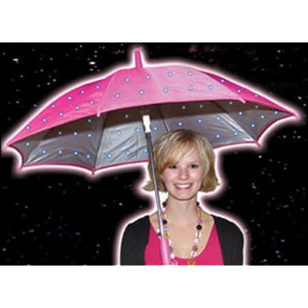 Light-Up Colour Change Umbrella - Pink
